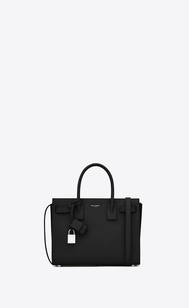 SAINT LAURENT Baby Sac de Jour D classic baby sac de jour bag in in black grained leather a_V4