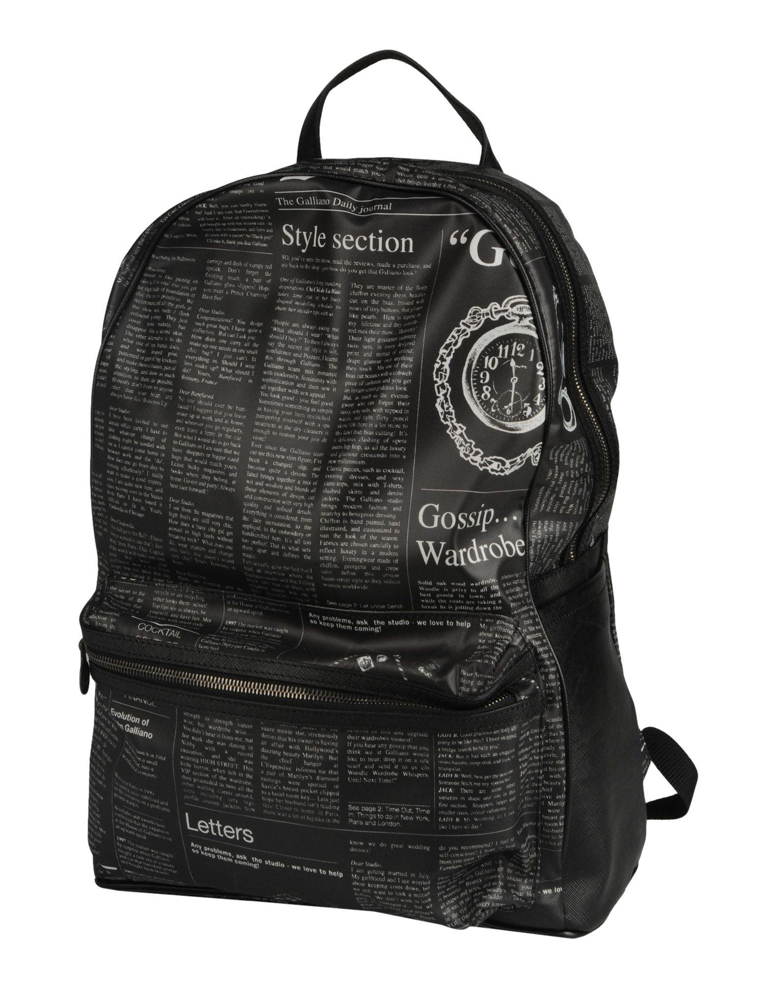 GALLIANO Рюкзаки и сумки на пояс