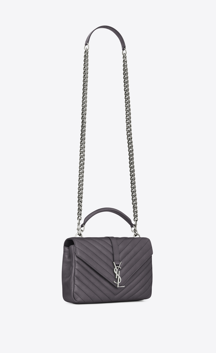 Saint Laurent Medium Collège Bag In Dark Anthracite . 9fab02c604766