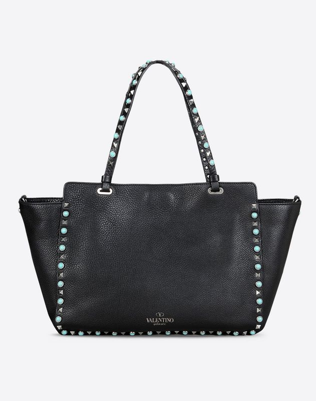 12858656967b5d Large Rockstud Rolling Tote for Woman | Valentino Online Boutique