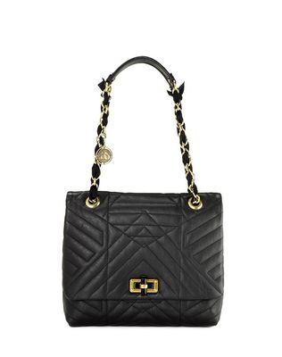 LANVIN HAPPY CLASSIC MEDIUM BAG IN LAMBSKIN Shoulder bag D f