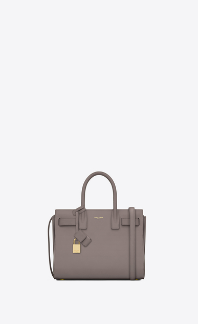 SAINT LAURENT Baby Sac de Jour Woman baby sac de jour bag in fog leather a_V4