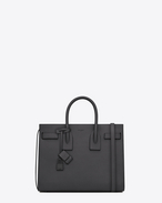 Classic Small SAC DE JOUR Bag in Dark Anthracite Grained Leather