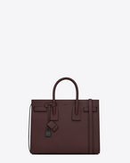 Classic Small SAC DE JOUR Bag bordeaux in pelle martellata