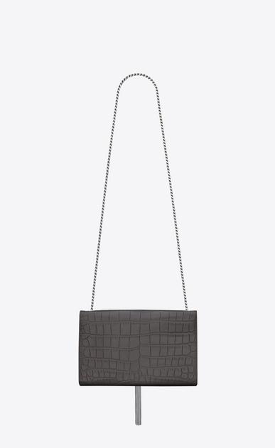 SAINT LAURENT MONOGRAM KATE WITH TASSEL D medium kate tassel chain bag in dark anthracite crocodile embossed leather b_V4