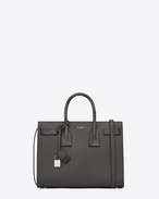 Classic Small SAC DE JOUR Bag in Dark Anthracite Leather and Python Skin