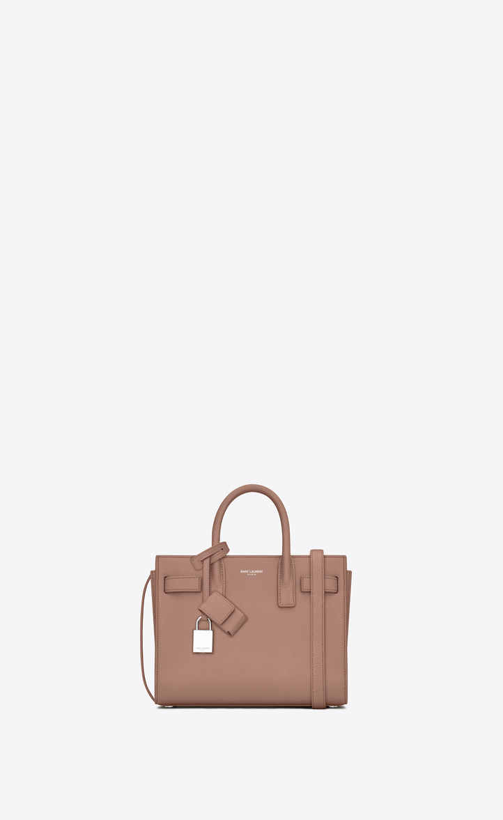 4f8199c28918 Saint Laurent Classic Nano SAC DE JOUR Bag In Light Dusty Rose ...