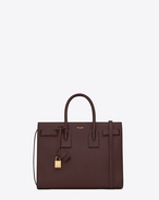 Classic Small SAC DE JOUR Bag in Bordeaux Leather and Python Skin