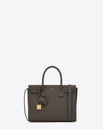Classic Baby SAC DE JOUR Bag in Clay Grey Grained Leather