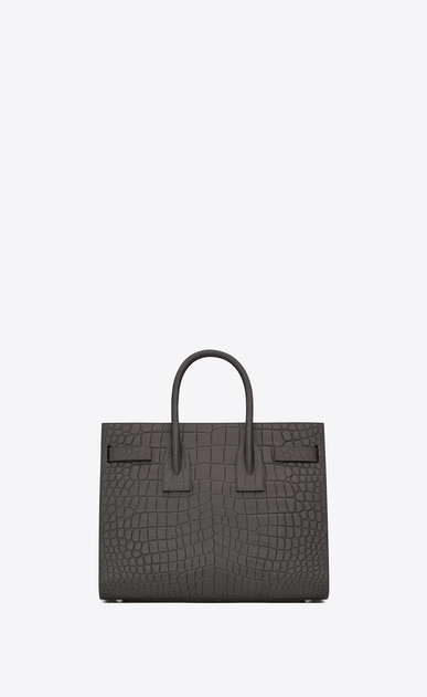 SAINT LAURENT Sac De Jour Small D Classic Small SAC DE JOUR Bag in Dark Anthracite Crocodile Embossed Leather b_V4