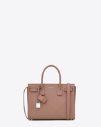 SAINT LAURENT Baby Sac de Jour D Classic Baby SAC DE JOUR Bag in Light Dusty Rose Grained Leather f