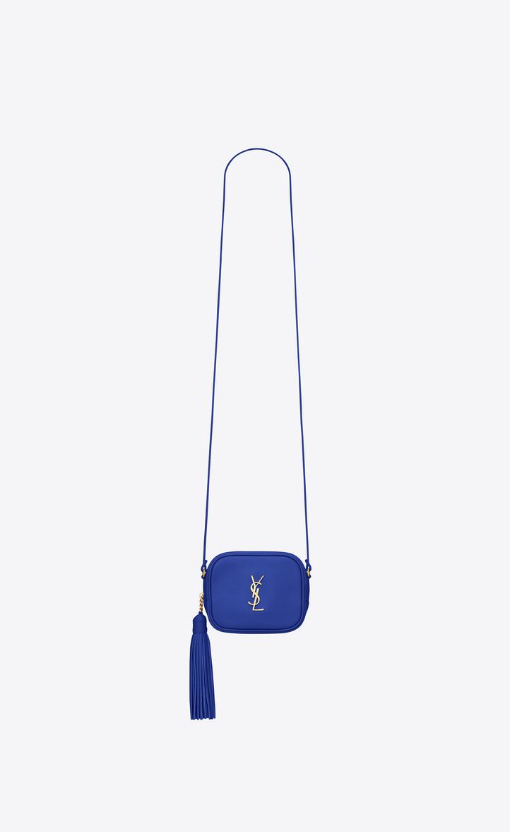 7eb7ad4d9b04 Saint Laurent Monogram Saint Laurent Blogger Bag In Ultramarine ...