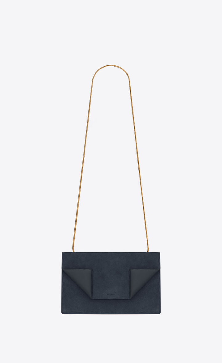 bd6f9ad8b6be Saint Laurent Medium BETTY Bag In Navy Blue Suede And Leather ...