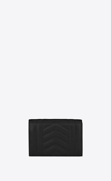 SAINT LAURENT Monogram Mix Matelassé D small monogram envelope wallet in black mixed matelassé leather b_V4