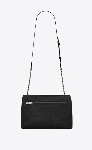 SAINT LAURENT West Hollywood D medium west hollywood bag in black crocodile embossed leather b_V4