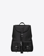SAINT LAURENT Backpack SL D Sac à dos FESTIVAL en cuir noir f