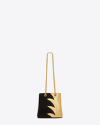 SAINT LAURENT Bucket Bag D Classic Baby EMMANUELLE Chain Bucket Bag in Gold Metallic Python Skin and Black Suede f
