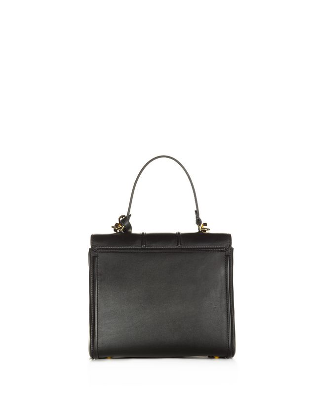 LANVIN SMALL BLACK TOP HANDLE BAG BY LANVIN Top handle D r