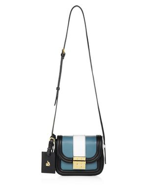 SMALL MID-BLUE LALA BAG BY LANVIN