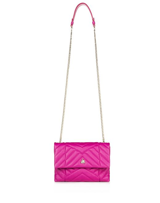 lanvin mini fuschia quilted sugar bag women