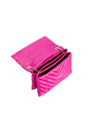 LANVIN MINI FUSCHIA QUILTED SUGAR BAG Shoulder bag D d