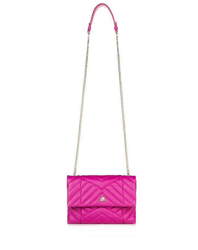 LANVIN MINI FUSCHIA QUILTED SUGAR BAG Shoulder bag D f
