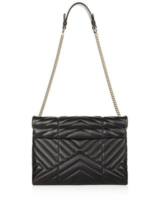 MEDIUM BLACK QUILTED SUGAR BAG