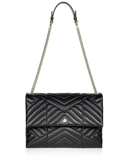 lanvin medium black quilted sugar bag  women