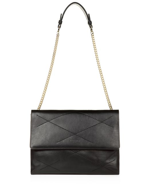 lanvin medium sugar bag in smooth black calfskin women
