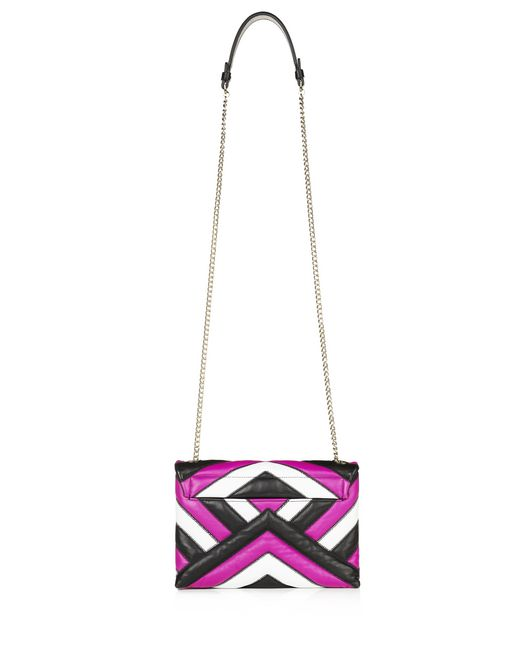 lanvin mini multicolour quilted sugar bag women
