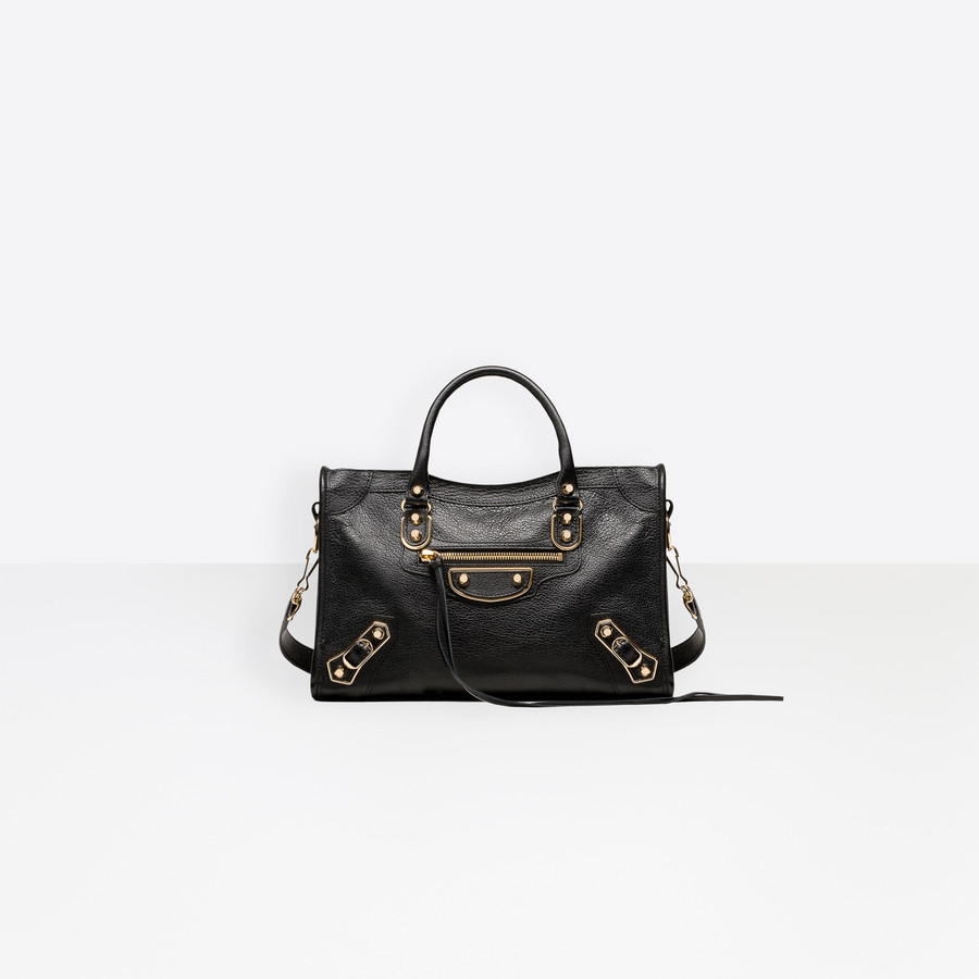 BALENCIAGA Classic Metallic Edge City S Borsa a Mano Metallic Edge D f