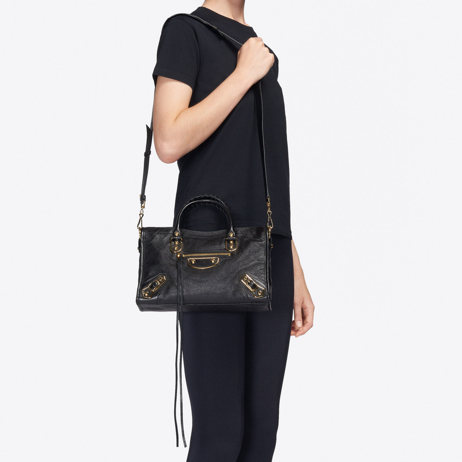BALENCIAGA Classic Metallic Edge City S Metallic Edge Handbag Woman b