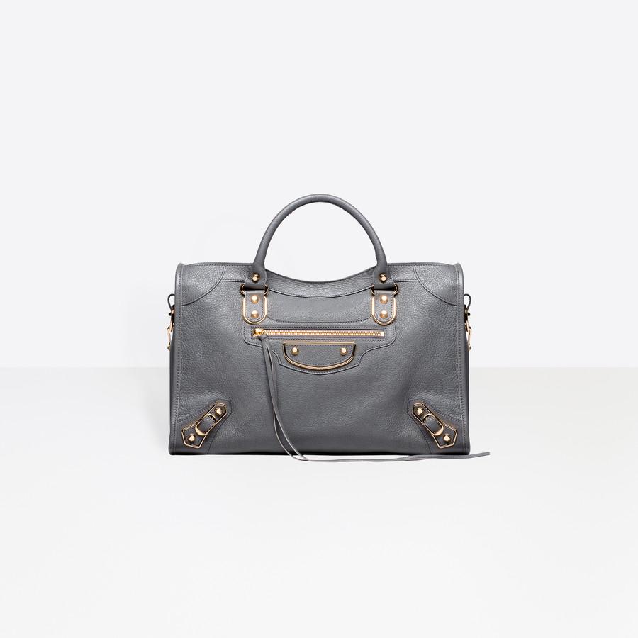 BALENCIAGA Classic Metallic Edge City Metallic Edge Handbag Woman f