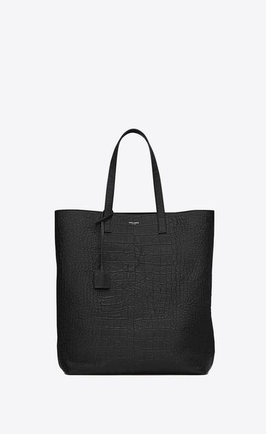 SAINT LAURENT Totes U SHOPPING SAINT LAURENT Tote Bag in Black Crocodile Embossed Leather v4