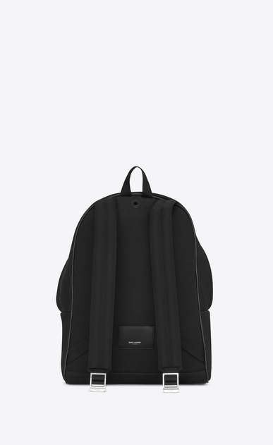 SAINT LAURENT Backpack U CITY Star Studded Backpack in Black Diagonal Canvas Twill, Leather and Nylon b_V4