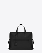 SAINT LAURENT Business U BOLD Briefcase in Black Leather f