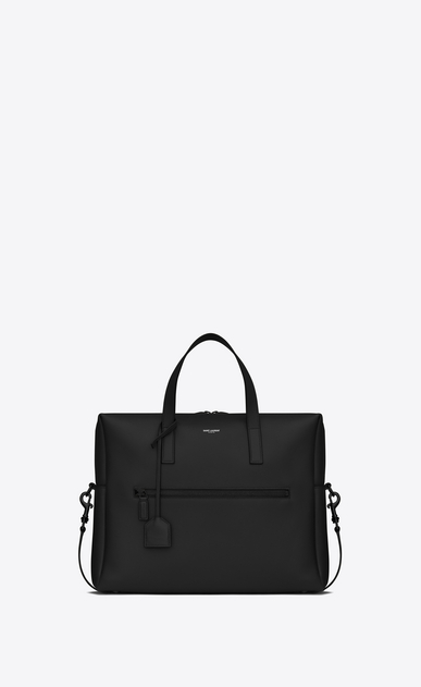 SAINT LAURENT Business U BOLD Briefcase in Black Leather a_V4