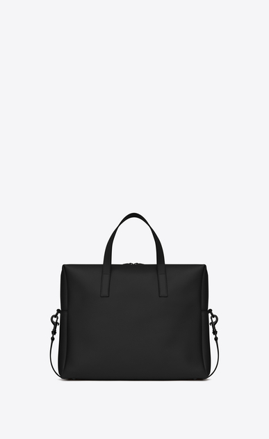 SAINT LAURENT Business U BOLD Briefcase in Black Leather b_V4