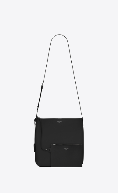 SAINT LAURENT Messenger And Crossbody Man BOLD Crossbody Bag in Black Leather b_V4