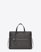 SAINT LAURENT Business U bold aktentasche aus dunkel anthrazitgrauem leder f