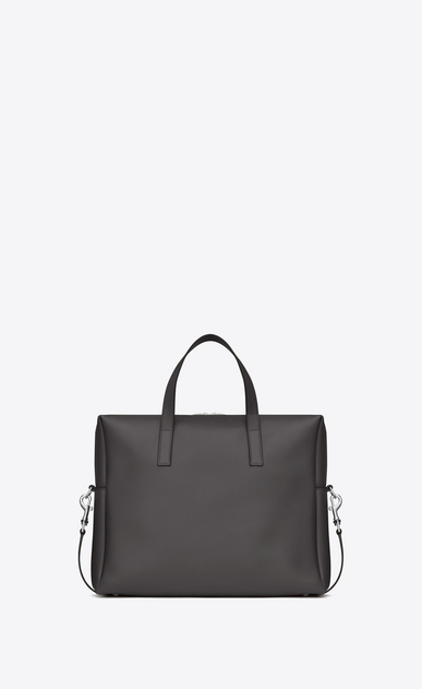 SAINT LAURENT Business Man BOLD Briefcase in Dark Anthracite Leather b_V4