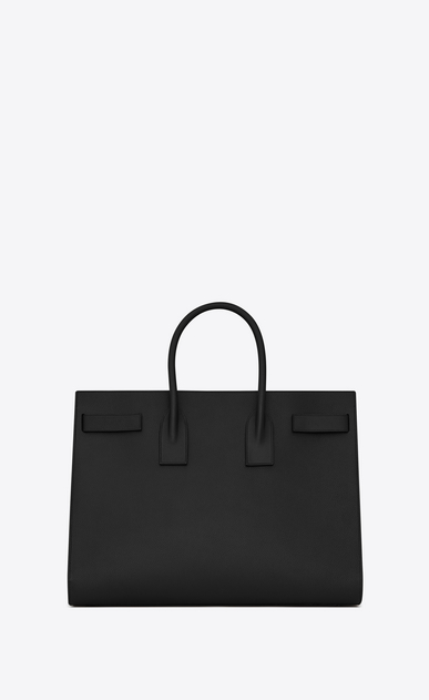 SAINT LAURENT Sac de Jour Men Homme Grand SAC DE JOUR Carry all en cuir grainé noir b_V4