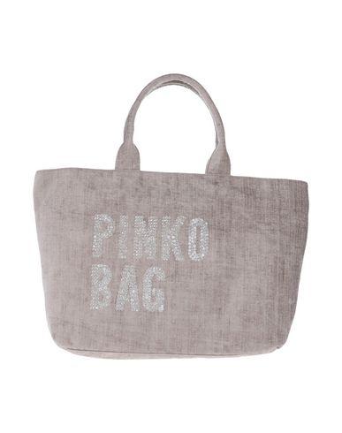 PINKO レディース ハンドバッグ グレー ポリエステル 60% / コットン 40%