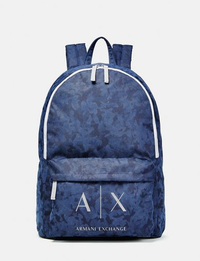 ARMANI EXCHANGE Contrast Logo Backpack Man front