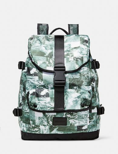 ARMANI EXCHANGE Aerial Camo Backpack Man front