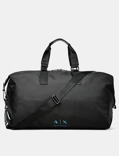 ARMANI EXCHANGE Nylon Logo Duffle Man front
