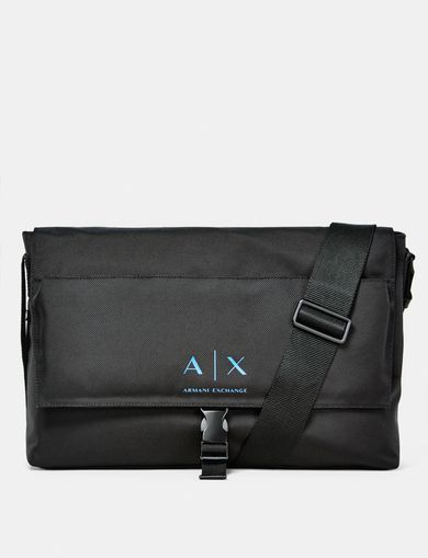 ARMANI EXCHANGE Nylon Logo Messenger Man front