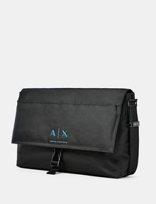 ARMANI EXCHANGE Nylon Logo Messenger Weekender bag U d