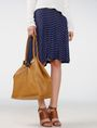 ARMANI EXCHANGE Oversize Leather Tassel Tote Tote D e