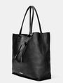 ARMANI EXCHANGE Oversize Leather Tassel Tote Tote D d
